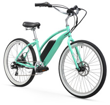"Firmstrong Urban Lady 26"" 350W 7 Speed Beach Cruiser Electric Bicycle Mint Green"