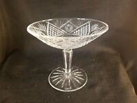 Waterford Crystal Ireland Compote, Footed Dish - Signed - Beautiful Design
