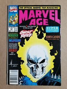 Marvel Age #87 (1990 Marvel Comics) Preview of Danny Ketch Ghost Rider
