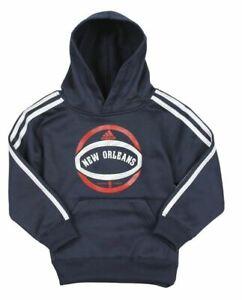 Adidas NBA Toddler New Orleans Pelicans Pullover Hoodie Hooded Sweatshirt, Navy