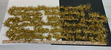 New listing Vintage Gold Christmas Tree Tinsel Garland On String 6 Yards 18' Feathery Look