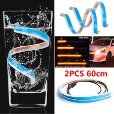 60cm Slim Strip Light Flexible LED Strip Headlight Turn Signal Light Dustproof