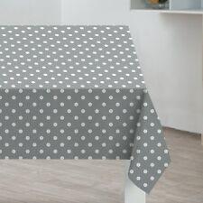 New Sabichi Table Cover Cloth Oblong 178cm x 132cm PVC Coated Grey Spots 188014