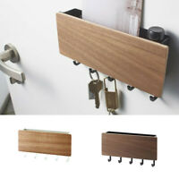 Wooden Door Hanger Wall Mount Hooks Key Holder Rack Organizer Letter Box Mail