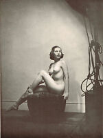 Original Vintage Art Deco Female Nude Alfred Cheney Johnston Photo Print d