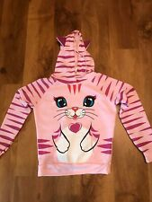 NWT PINK Cat Kitty Ears Girls Pullover Hoodie Jacket *  Size L- Jr? see measure