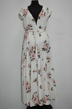 Free People All I Got Floral Maxi Dress, Ivory, Size 8