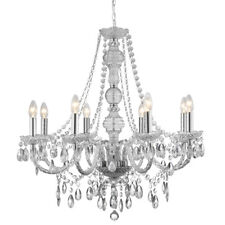 Searchlight Marie Therese 8 Lights Clear Acrylic Traditional Ceiling Chandelier