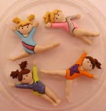 GYMNASTICS SILICONE MOULD FOR CAKE TOPPERS CHOCOLATE CLAY ETC