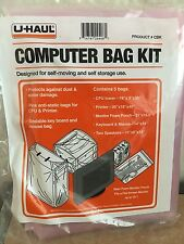 COMPUTER BAG KIT FROM U-HAUL CONTAINS 5 BAGS (FOR SELF-MOVING & STORAGE USE)