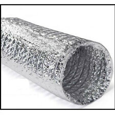 Double-sided aluminum foil duct / exhaust pipe /telescopic tube 200mm * 10m T