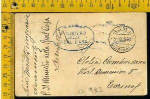 Regno franchigia postale O 983 Reali annullamenti Roma Quirinale