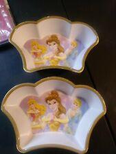 Disney Store Lot Of 2 Princess Crown Bowls