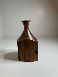 Jarrah Australian Timber Vase Stunning Turned Art