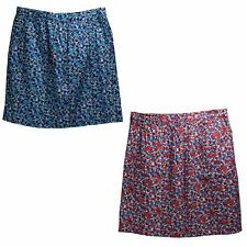 Classic Elements Womens Blue Or Red Floral A Line Woven Skirt Assorted Sizes