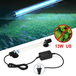 Clean Lamp 13W Submersible Aquarium Pond Fish Tank UV Light Sterilizer US