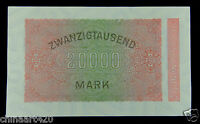 Germany Early Banknote 20000 Mark 1923 UNC
