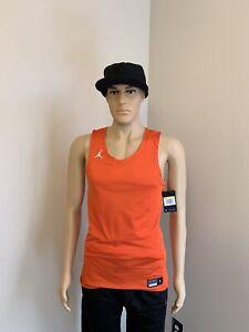 Jordan Jumpman Men's Reversible Jersey Orange & White Small AR4317-821