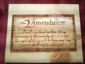 Patriotic 2nd Amendment Wall Hanging Plaque