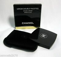 AUTHENTIC CHANEL MAKE UP MIRROR DUO MIROIR DOUBLE FACETTES IN BOX VELVET POUCH