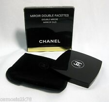 Autentico Chanel Make up Specchio DUO MIROIR DOUBLE LONGTAIL custodia di velluto in Scatola