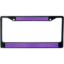 Premium Black Purple Bling Crystal Diamond License Plate Frame for Car-Truck