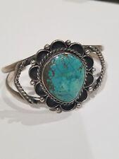 Navajo Native American  Sterling Silver Cuff Bracelet