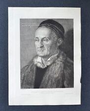 Gravure XIXème - Portrait du Sénateur Muffel de Nuremberg - A. Dürer - Gaujean