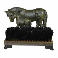 Horse Mare & Foal Door Stop Shoe Welly Boot Brush Scrub Muck Mud Scraper