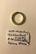 18k gold ring Unisex