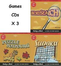 GAMES CDs X 3 - Britannica Family Collection