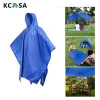 KCASA ADULT KIDS REUSABLE Raincoat Poncho Rain Tent Mat Waterproof Backpack