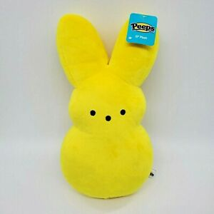 "NEW 15""  Marshmallow Peeps Bunny Rabbit Yellow Plush Stuffed Just Born Toy B350"