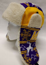 Minnesota Vikings Team Color City Name Trooper Hat - Warm and Well Made!  SKOL!