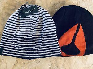 NIXON new MENS LADIES BEANIE Winter Ski SPORTS CAP HAT 2in1