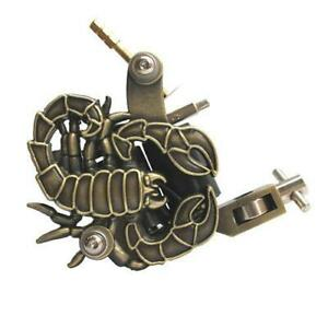 BRONZE GOLD SCORPION PROFESSIONAL TATTOO MACHINE for power supply gun clip cord