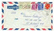 France 1954-bedarfspost dans les États-Unis-POSTE AÉRIENNE-Mélange affranchissement