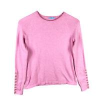 J.McLaughlin Womens Sweater Size XS Pink Classic Crew Neck Long Sleeve
