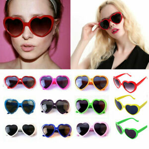 Women Candy Color Heart-shaped Sunglasses Anti-UV Spectacles Sun Beach Glasses