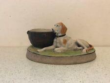 Antique Russian Soviet Porcelain Figurine Ashtray with Striker Gardner Verbilki