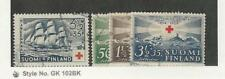 Finland, Postage Stamp, #B26, B35-6, B38 Used, 1937-39 Ship
