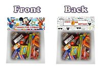 Mickey On The Go Treat Goodie Bag Toppers Birthday Party Favors 6pc