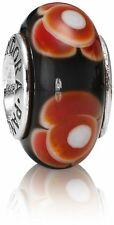 790646 Cinnamon Flowers For You Retired Pandora Charm S925 ALE, Murano Glass