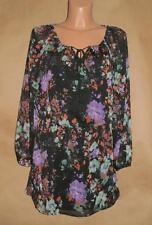 """Jessica Simpson Beautiful Black """"Painterly Flora Laurelle Dress"""" –Size M"""