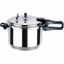 ALUMINIUM PRESSURE COOKER PAN WITH SAFETY VALVE KITCHEN COOKWARE 5L 5 Litre