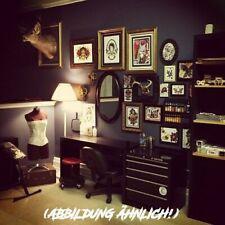 Tattoo Studio Work Station Mobiler Arbeitsschrank 5 Schubfächer 3 Magnethalter