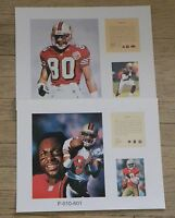 Jerry Rice San Francisco 49ers 2 NFL11x14 Prints Pro Football Hall Of Fame HOF