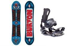 BURTON Protest 136 Kinder Snowboard Set inkl. SP Fastec Bindung Jugend Board-Set