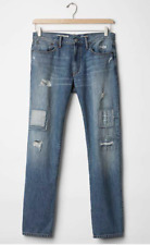 New Gap Destructed JEANS mens 30 x 32 Straight  destroyed