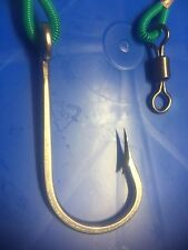 1 X 8/0 EXTRA STRONG STAINLESS GAME HOOK ON 250LB 1.5 METER LONG LIVE BAIT RIGS
